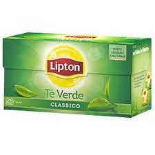 Thè verde lipton 25 filtri